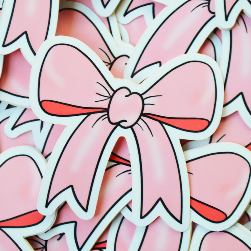 Cute Pink Bow Sticker